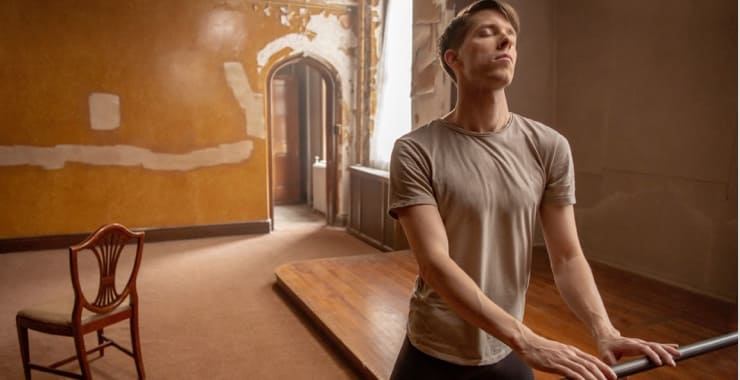 Chad at the ballet barre